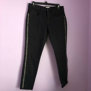 Zara black pants with sparkly rhinestones